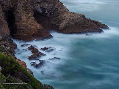 Image Number GH5R315839. View of rocky costline at Herolds Bay near George, viewed from the Voëlklip view site. Garden Route. Western Cape. South Africa.
