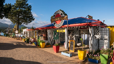 Ruiterbos, Western Cape, South Africa - May 12, 2018. Boerqi Bistro Padstal (Farm Stall) on the R328 near Mosselbay on the Garden Route is a popular tourist stop for excellent pizza and other pub food.