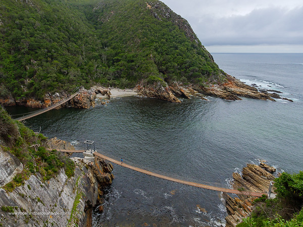 Image Number GH5R362097. Suspension bridges at Storms River. Garden Route. Eastern Cape. South Africa