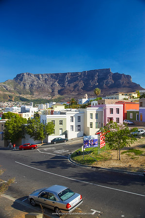 View of Table Mountain from Bo Kaap Cape Town