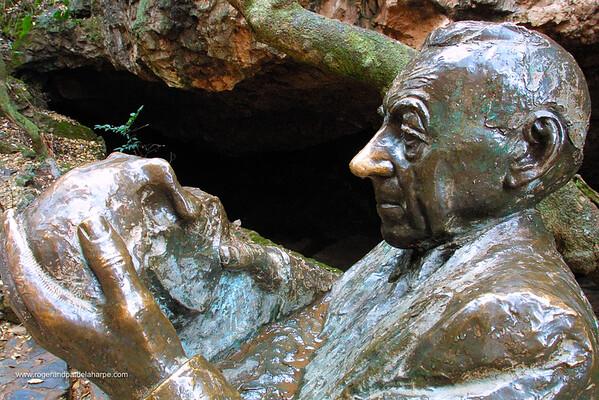 Bust of Robert Broom. Sterkfontein Caves. Cradle of Mankind. Gauteng. South Africa