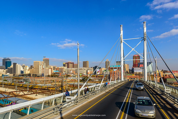 Street scene from Nelson Mandela Bridge. Johannesburg. Gauteng.  South Africa