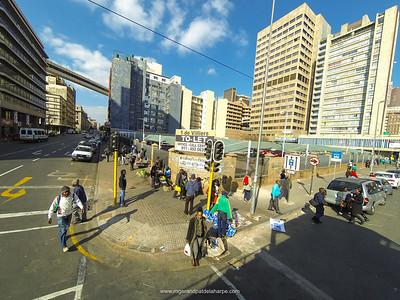 Street scene. Johannesburg. Gauteng.  South Africa