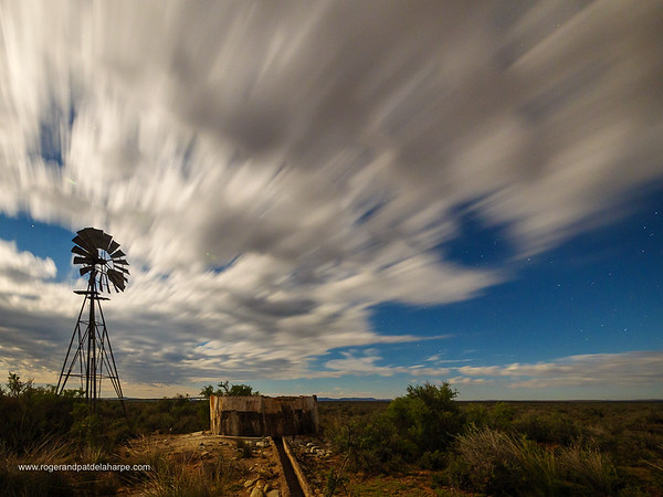 Windmill near Fraserburg. Northern Cape. South Africa.
