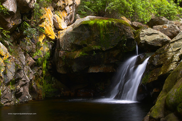 Waterfall in the Swartberg Mountains outside Oudtshoorn. Western Cape. South Africa.
