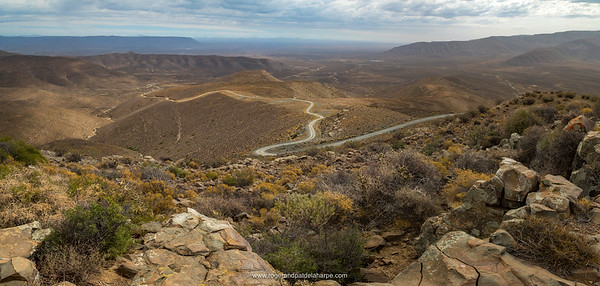 Ouberg Pass with views into the Tankwa Karoo. Sutherland. Northern Cape. South Africa.