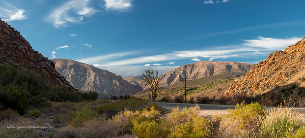 Roadside view of Swartberg Mountains on R328 near Prince (Prins) Albert. Western Cape. South Africa