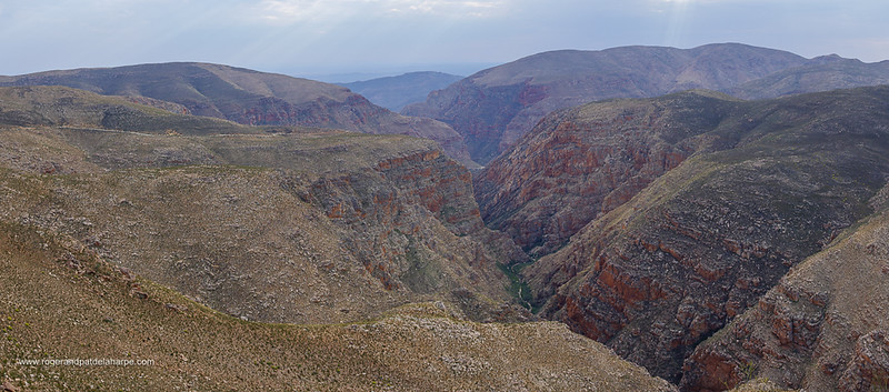 Image Number GH5R398348-Pano. Swartberg Pass through the Swartberg Mountains. Great Karoo. Prince Albert. Western Cape. South Africa