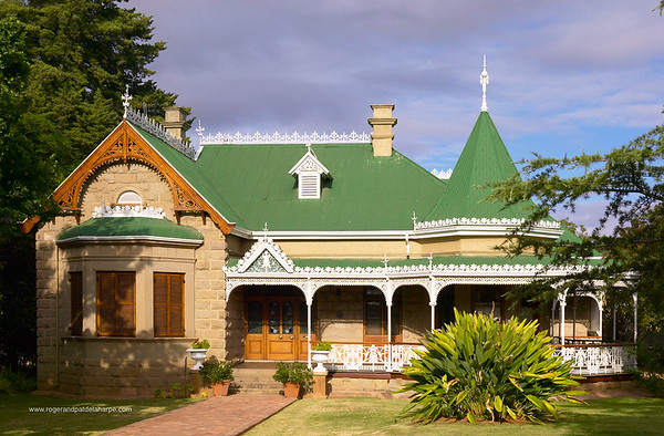 """One of several old stately homes of the early  feather barons - called """"Feather Palaces"""". Oudtshoorn. Western Cape, South Africa."""