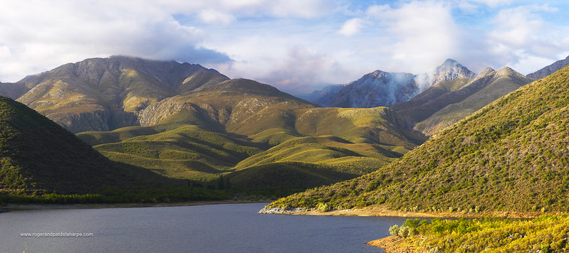 Dam in the Swartberg Mountains outside Oudtshoorn. Western Cape. South Africa.