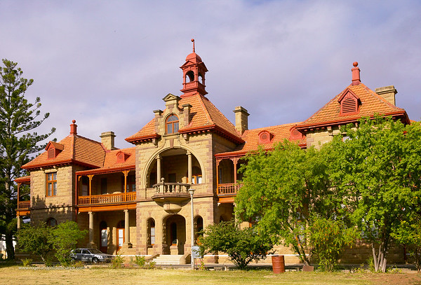 Typical architecture found  in Oudtshoorn. Western Cape, South Africa.