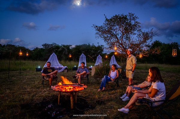Sleep-out bush accommodation. Phinda / Munyawana / Zuka Game Reserve.  KwaZulu Natal. South Africa