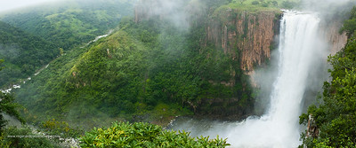 Howick Falls at 97 metres is the second highest in South Africa. Howick. KwaZulu Natal. South Africa