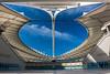 The Moses Mabhida Stadium main entrance showing interior. Durban. KwaZulu Natal. South Africa.