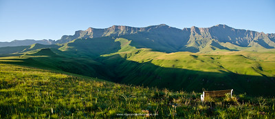Drakensberg Scenery in the Cathedral Peak region of the Ukhahlamba Drakensberg Park. KwaZulu Natal. South Africa.