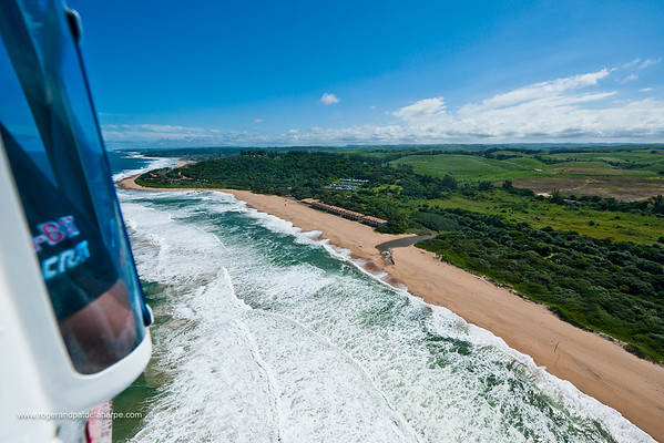 Aerial view from a helicopter sightseeing flight near Kelso. KwaZulu Natal South Coast. South Africa