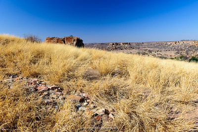 View from the top of Mapungubwe Hill. Mapungubwe National Park. Limpopo Province. South Africa.