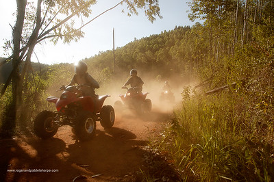 Tourists on quad biking. Hazyview. Mpumalanga. South Africa