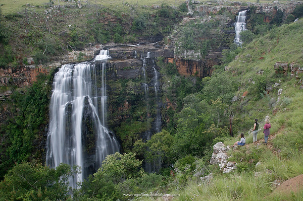 Tourists at Lisbon Falls. Graskop. Mpumalanga. South Africa