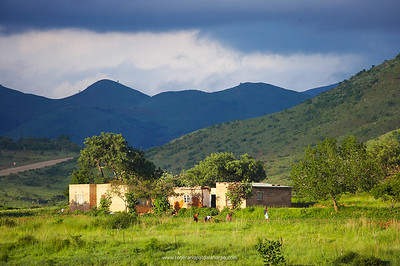 Swazi homestead. Near Barbeton. Mpumalanga. South Africa.
