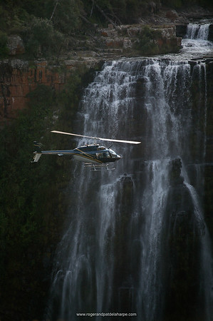 Helicopter safari by Mountain Magic Helicopters at Lisbon Falls. Graskop. Mpumalanga. South Africa