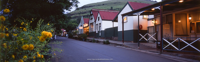 Street scene outside the Royal Hotel. Pilgrims Rest. Mpumalanga. South Africa