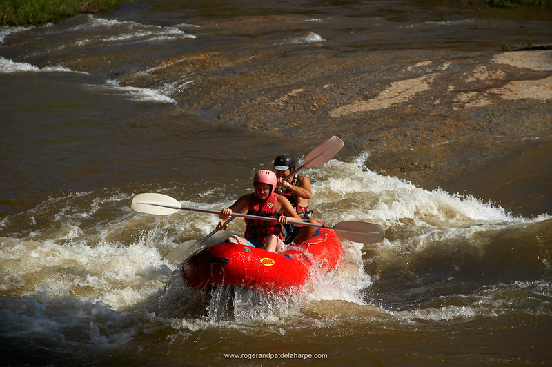 River rafting on Sabi River. Hazyview. Mpumalanga. South Africa.