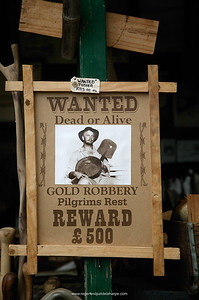 """Wanted"" sign for sale at craft shop. Pilgrims Rest. Mpumalanga. South Africa"