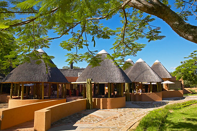 Restaurant at Pretoriuskop camp. Kruger National Park. Mpumalanga. South Africa.