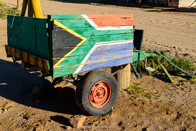 Donkey cart. Kalahari Water Camp Site. Keimoes. Northern Cape. South Africa.