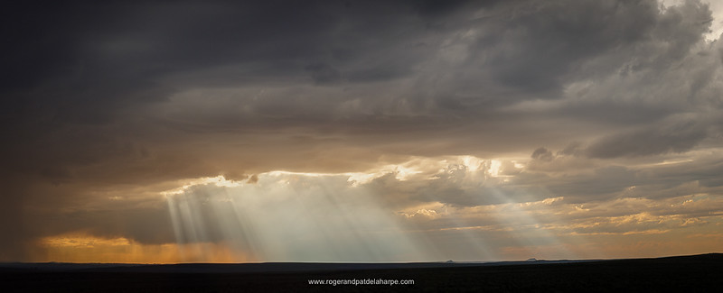 Rain storm near Fraserburg. Northern Cape. South Africa.