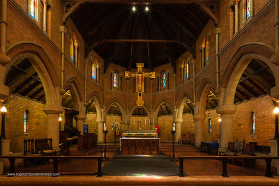 Cathedral Church of St Cyprian. Consecrated in 1908, it has the longest nave in the country. Kimberley. Northern Cape. South Africa.