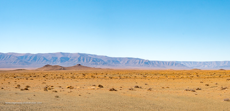 View of Tankwa Karoo National Park with the Roggeveld Mountains in the background. Northern Cape. South Africa.