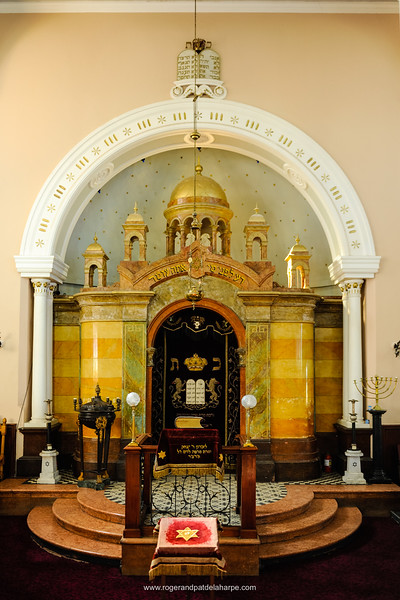 The Synagogue was opened in 1901, and built in Byzantine style. Kimberley. Northern Cape. South Africa.