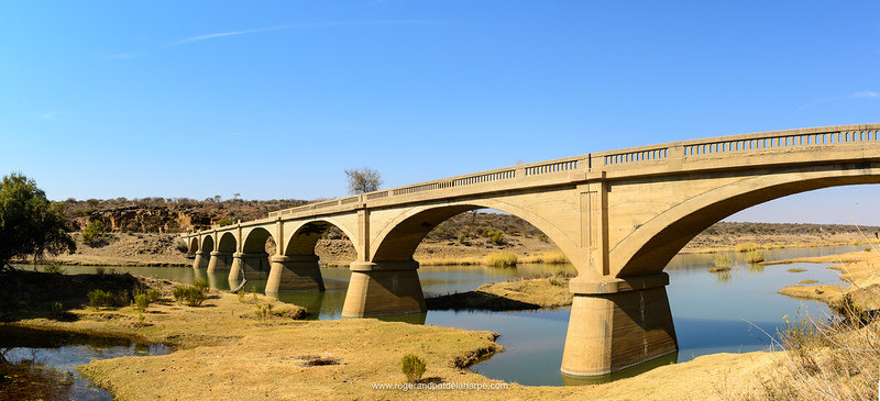Old road bridge across the Vaal River at Schmidtsdrift. Northern Cape. South Africa.
