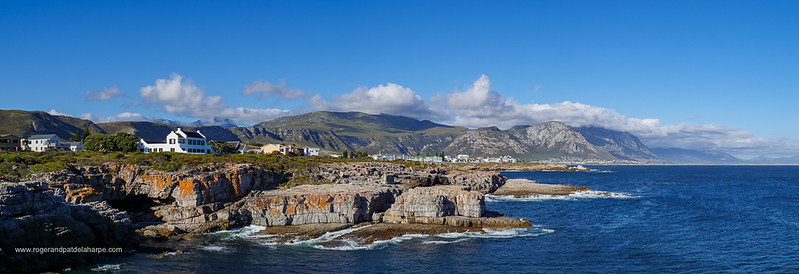 Image Number GH5R385573-Pano. View from Tamatiebank towards Hermanus and beyond. Kleinrivier Mountains in the background. Whale Coast. Overberg. Western Cape. South Africa