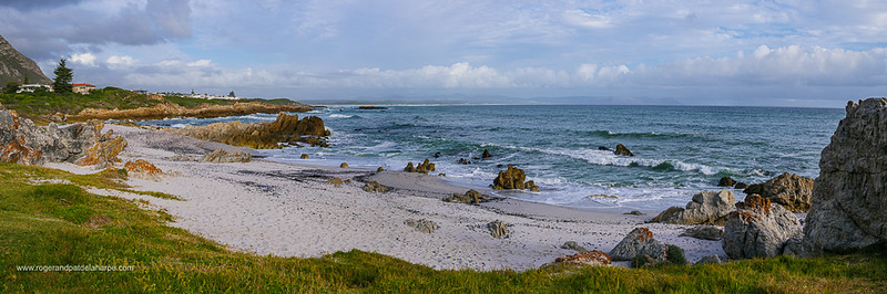 Image Number GX8R385695-Pano. View from Kammabaai Beach across Walker Bay. Hermanus. Whale Coast. Overberg. Western Cape. South Africa