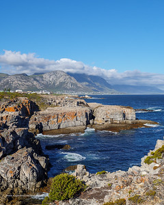 Image Number GH5R385601. View from Tamatiebank towards Hermanus and beyond. Kleinrivier Mountains in the background. Whale Coast. Overberg. Western Cape. South Africa