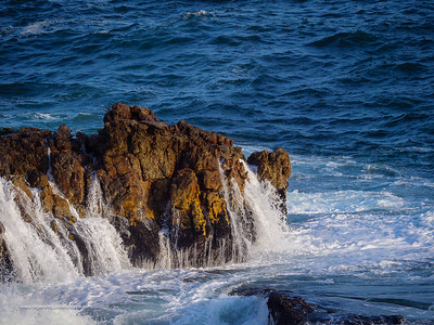 Image Number GH5R409326. Wave crashing into rock. Hermanus. Whale Coast. Overberg. Western Cape. South Africa
