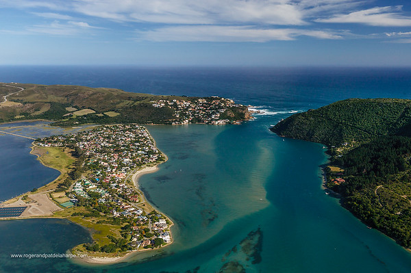 Aerial view. Knysna. Western Cape. South Africa.