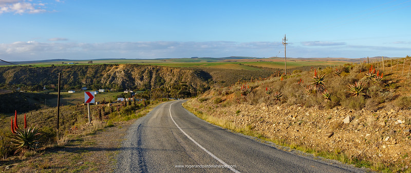 The road into Malgas (Malagas) and the Breede River Valley. Western Cape. South Africa