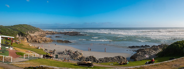 Image Number GM5R385319-Pano. View from Voëlklip Beach of Walker Bay. Hermanus. Whale Coast. Overberg. Western Cape. South Africa