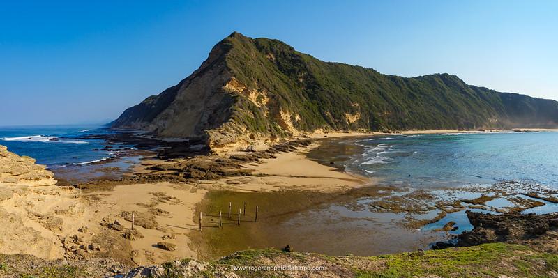 Coastal scene at Gericke's Point near Sedgefield. Garden Route. Western Cape. South Africa