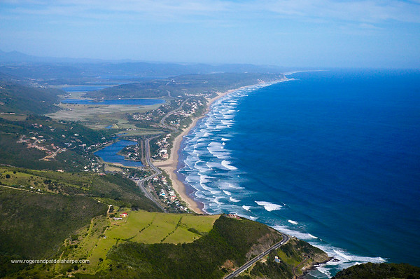 Aerial view. Wilderness. Western Cape, South Africa.