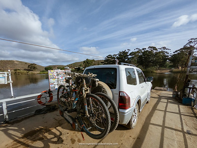 The pont or ferry across the Breede River. Malgas (Malagas). Western Cape. South Africa
