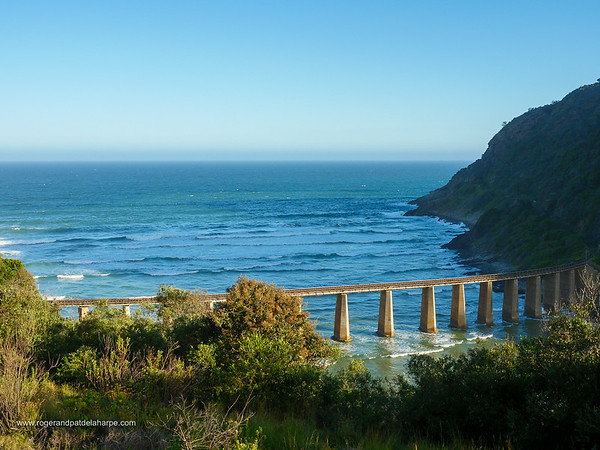 Image Number GH5R314747. The old railway bridge across the Kaaimans River near Wilderness and George. Garden Route, Western Cape. South Africa