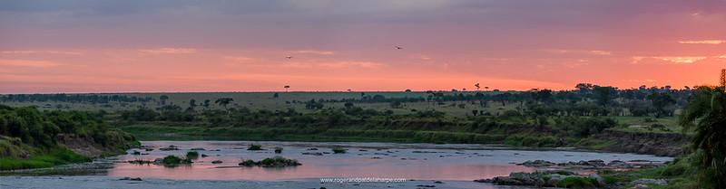 Mara River at sunrise. Serengeti National Park. Tanzania