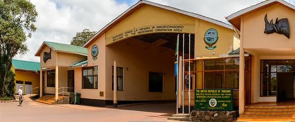Entrance to the Ngorongoro Conservation Area (NCA). Tanzania