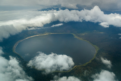 Aerial view of Empakaai Crater. Ngorongoro Conservation Area (NCA). Tanzania