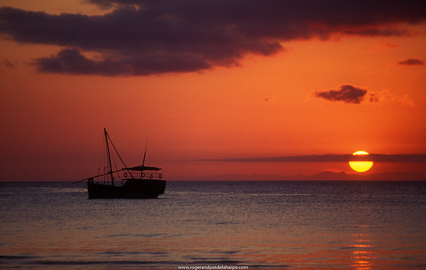 Sunset. Pemba Island. Tanzania.